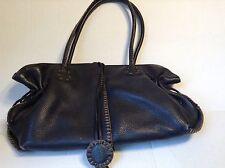 Wonderful Carlos Falchi Fatto A Mano Black Leather Satchel