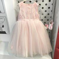 Abito Bambina Cerimonia Elegante Principesco Rosa Sarah Louise 070035