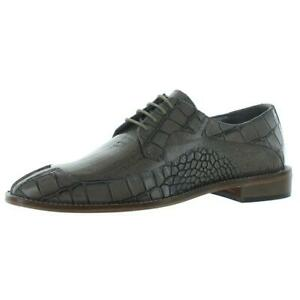 Stacy Adams Mens Tiramico Leather Croc Embossed Oxfords Shoes BHFO 9728