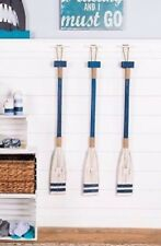 Large Blue And White Wood Oar Wall decor Nautical And Beach Home Decor