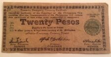 Rare Philippines Banknote. Twenty Pesos. Series 1944.