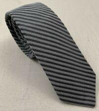 "brooks brothers black fleece thom browne silk cotton stripe neck tie 58"" x 2.75"""
