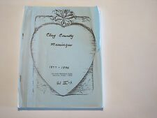 Marriage Clay County Illinois IL history genealogy Flora Louisville 1877-1885