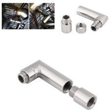 M18 X 1.5 Steel Silver Color O2 Oxygen Sensor Extender Spacer 90° Universal