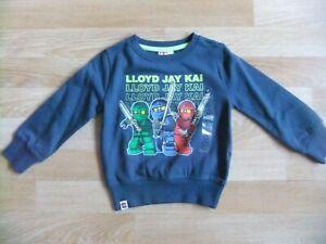 Lego Ninjago Pullover Jungen Blau Gr. 92 Neu