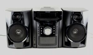 Sharp CD-DH950P Mini Stereo Home Theater System Black 5 CD Cassette iPod Player