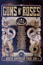 GUNS N' ROSES NORTH AMERICAN TOUR 2011 CONCERT  POSTER - Skulls, Snakes & Dates