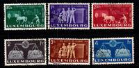 Luxemburg 1951 Mi. 478-483 Gestempelt 100% 80 C, 1. 2. 2.5. 3. 4 Fr, Europäisch