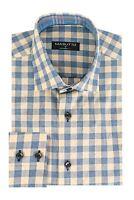 MASUTTO FLACO//18 Men Dress Long Sleeve Shirt Bugatchi Robert Graham BERTIGO