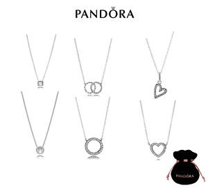 New Authentic Pandora Silver Sterling Necklace All styles ALE925 45cm Gift Pouch