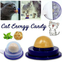 Pet Cat Food Snack Catnip Sugar Candy Licking Solid Nutrition Energy Ball Toys