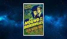 Sherlock Holmes Fridge Magnet.NEW Hound of the Baskervilles. Retro Poster Art