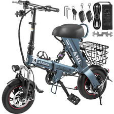 """12"""" 250W Folding Electric Bike Bicycle 36V 8AH Battery 22Mph Speed 22Miles"""