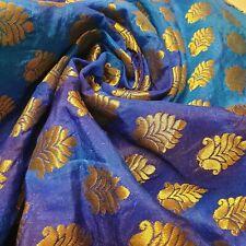 "Royal Emblem Indian Tie Dye Jacquard Banarasi Brocade Dress Cushion Fabric 44"""