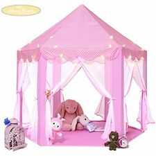 Monobeach Princess Tent Girls Large Playhouse Kids Castle With 20 Feet Star For