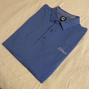 FOOTJOY TITLEIST Tour Issued XXL Golf Polo Shirt Athletic Color Blue