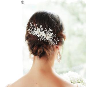 Bridal headpiece  Bridal Hair Comb Pearl Hair Comb Boho Wedding Headpiece