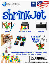 Shrink Film Paper 5PK/ White Shrinkjet Kids Crafts Ink Jet
