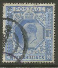 GB  EDVII  SG319    10/-   BLUE    FINE USED  a