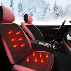 Thickening Car Front Seat Heated Heater Cover Pad Hot Cushion Warmer Winter 12V