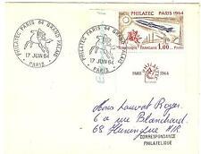 N° 1422 SUR ENVELOPPE OBLITERE PHILATEC PARIS 1964 GRAND PALAIS COTE 25€