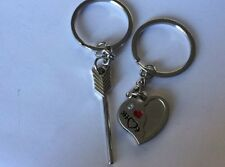 I Love You Cupid's Arrow & Loving Heart Couple Kirsite Keychains For Gift  ke25A