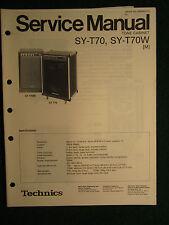 Technics Tone Cabinet SY-T70 T70W Service Repair Shop Manual Wiring SY T 70 70W