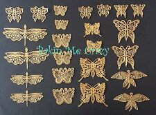 Edible Cake Lace Butterflies Gold, Pearl, Silver Wedding Anniversary Birthdays.