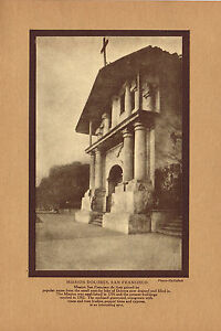 Antique Mission Dolores San Francisco Frances MacCulloch Photo Gravure Print