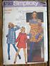 Vintage 1970s Sewing Pattern Simplicity #5793 Dress Junior Teen Size 13/14 UNCUT