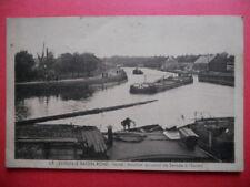 ESTRUN-LE BASSIN ROND  :  Jonction du Canal de Sensée à l'Escaut.