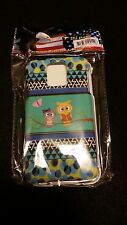 SAMSUNG GALAXY S5 TWO OWLS AND BUTTERFLY ON BLUE IN THE MIDDLE - Case Protector