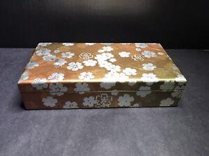 JAPANESE STYLE Sakura Lacquered Wood Jewelry Box ~New~