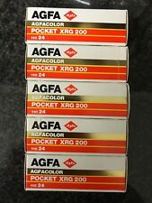 5x Agfa Pocket XRG 200 110mm Expired film Lomo rare