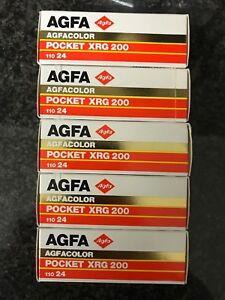 5x Agfa Pocket XRG 200 110mm Expired film Lomo rare