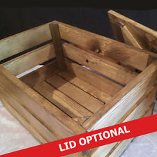Wooden Non-Lidded Medium Home Storage Boxes