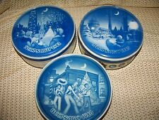 3 KEEPSAKE fruit cake cans tins cities '80-82 Wash DC Orleans Chicago vintage