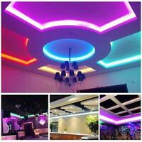1x Neon LED Light Glow Flat Edge EL Wire String Strip Decor Tube Rope Car A7A6