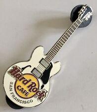 Hard Rock Cafe San Francisco Pin White Gibson Guitar Lapel Pin A54