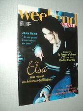 WEEKEND LE VIF L'EXPRESS 96/41 (11/10/96) ELSA JEAN RENO ELODIE BOUCHEZ JL MURAT