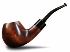 Original Sherlock Holmes Tobacco Smoking Pipe Pear Wood Classic Apple Bent Bowl