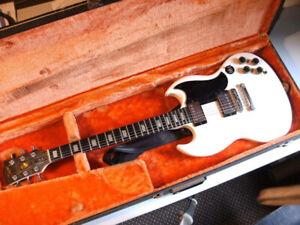 E-Gitarre Gibson SG 1972 weiß