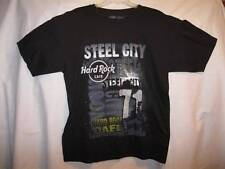 Hard Rock Steel City Black Mens Tshirt Pittsburgh PA Size L Large 100 Cotton (O)