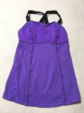 Lululemon XXS XS Purple Black Adjustable Strap Bra Tank Top Workout Yoga