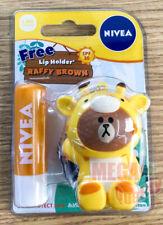 NIVEA Lip Care Sun Protect Balm SPF 30 Line Friends Raffy Brown Holder
