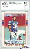 Thurman Thomas 1989 Topps #45 ROOKIE BECKETT 10 MINT Buffalo Bills HOF