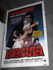 BLACULA original 1972 BLAXPLOITATION one sheet movie poster WILLIAM MARSHALL
