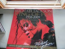 Michael Jackson King of Pop official 16 month calendar 2009-2010 NEW Collectible