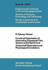 USED (VG) Functional Organization of Descending Supraspinal Fibre Systems to the