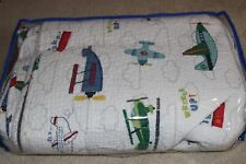 Lil Dickens AIRPLANES TWIN BED QUILT with 1 Sham